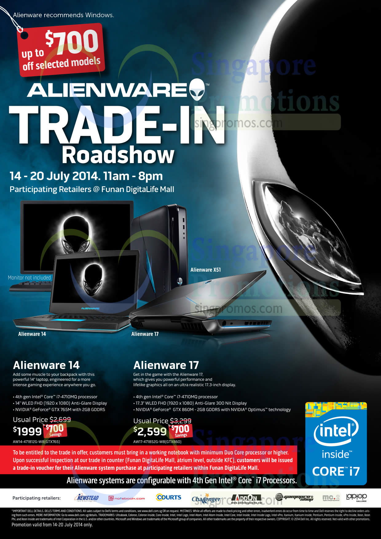 Dell Alienware 14 Notebook AW14-471812G-W8(GTX765), Dell Alienware 17 Notebook AW17-471852G-W8(GTX860)