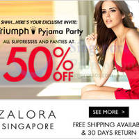 Read more about Triumph 50% Sale Underwear & Sleepwear Online SALE 11 - 13 Jul 2014