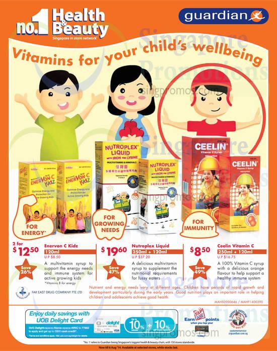 Vitamins Enervon, Nutroplex, Ceelin