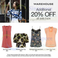 Read more about Warehouse 20% OFF Sale Tops Promo 25 - 28 Jul 2014