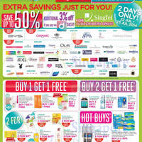 Read more about Watsons Up To 50% OFF Two Days Promo For Singtel Subscribers 22 - 23 Jul 2014