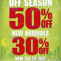 Read more about World of Sports 50% OFF Off Season & 30% OFF New Arrivals 25 - 29 Jul 2014