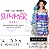 Read more about Zalora Summer Sale From $3 Onwards 10 - 15 Jul 2014