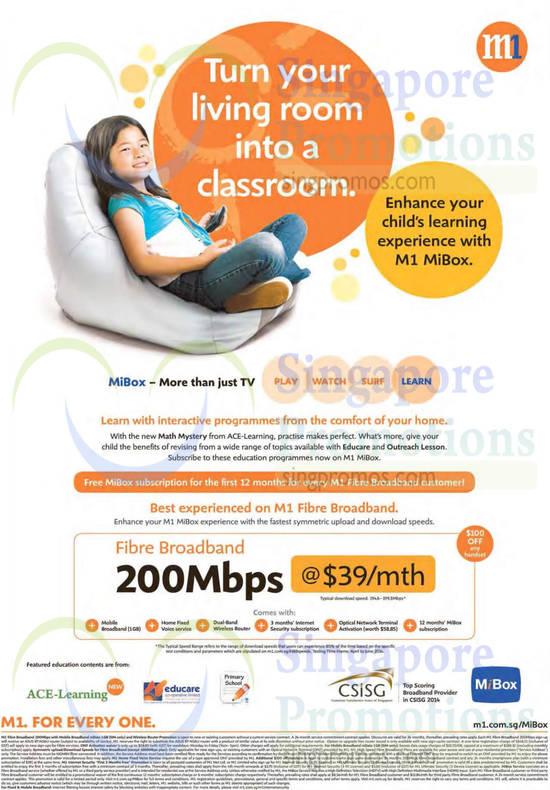 200Mbps Fibre Broadband 39.00