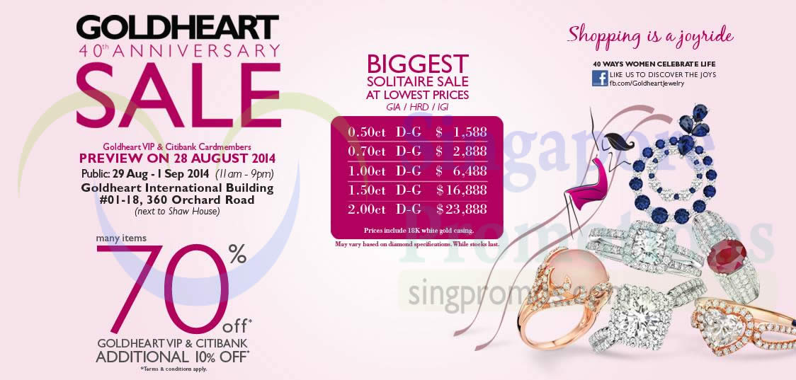 27 Aug 70 Percent Off For Goldheart VIP, Citibank Cardholders