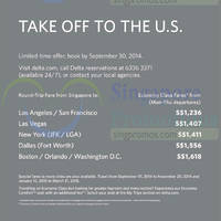 Read more about Delta Air Lines US Promo Air Fares 27 Aug - 10 Sep 2014