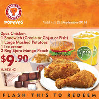 Read more about Popeyes NEW Dine-In/Takeaway Discount Coupons 4 Aug - 21 Sep 2014