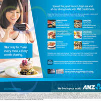 Read more about ANZ 1 For 1 & One Dines Free Dining Offers 1 Aug - 31 Oct 2014