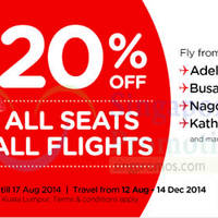 Read more about Air Asia 20% OFF All Seats All Flights Promo 11 - 17 Aug 2014