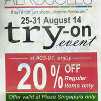 Read more about Aerosoles Up To 70% OFF @ Plaza Singapura 25 Aug - 30 Sep 2014