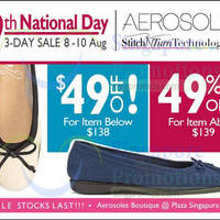 Read more about Aerosoles National Day Promotions 8 - 10 Aug 2014