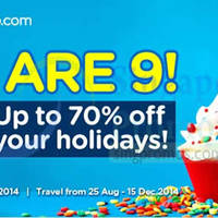 Read more about Air Asia Go Up To 70% Holidays Promotion 18 - 24 Aug 2014