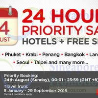Air Asia Go Hotels + FREE Flights Packages 24Hrs Priority Promo 24 Aug 2014