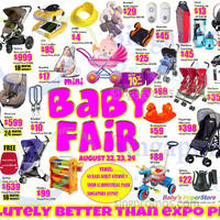 Baby Hyperstore Mini Baby Fair Offers 22 - 24 Aug 2014
