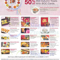 Bank of China Up To 50% OFF Mid Autumn Treats 20 Aug - 8 Sep 2014