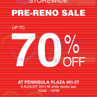 Read more about Bata Storewide Pre-Reno Sale @ Peninsula Plaza 8 Aug 2014