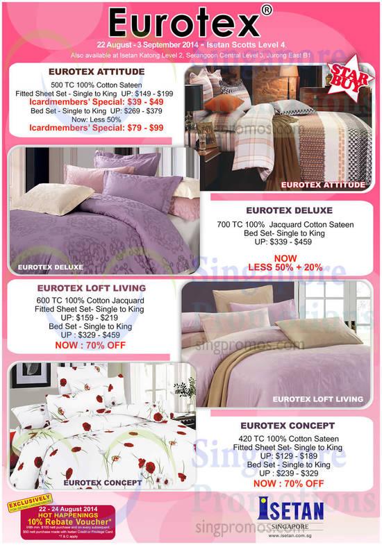 Bedsheet Sets Eurotex Attitude, Deluxe, Loft Living, Concept
