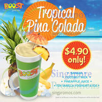 Read more about Boost Juice Bars $4.90 Tropical Pina Colada Promo 16 Aug 2014