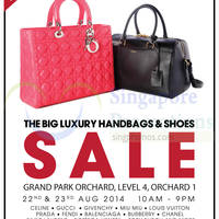 Brandsfever Handbags & Footwear Sale @ Grand Park Orchard 22 - 23 Aug 2014
