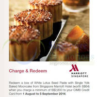 Read more about CIMB Cards Charge & Redeem Marriott Hotel Mooncakes 1 Aug - 5 Sep 2014