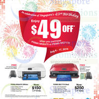 Read more about Canon $49 OFF Selected Pixma Inkjet Printers Promo 6 - 17 Aug 2014