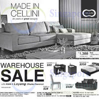 Cellini Warehouse Sale 30 Aug 2014