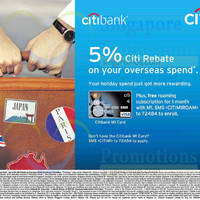 Read more about Citibank M1 Card Overseas Spend 5% Citi Rebate 31 Aug 2014