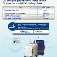 Read more about Citibank NATAS Sure-Win Lucky Dip, Spend & Redeem & More 29 - 31 Aug 2014