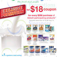 Read more about Abbott Spend $200 & Get FREE $18 Coupon @ Cold Storage 15 - 28 Aug 2014