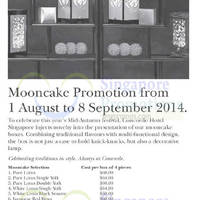 Read more about Concorde Hotel Mooncake Offers 1 Aug - 8 Sep 2014