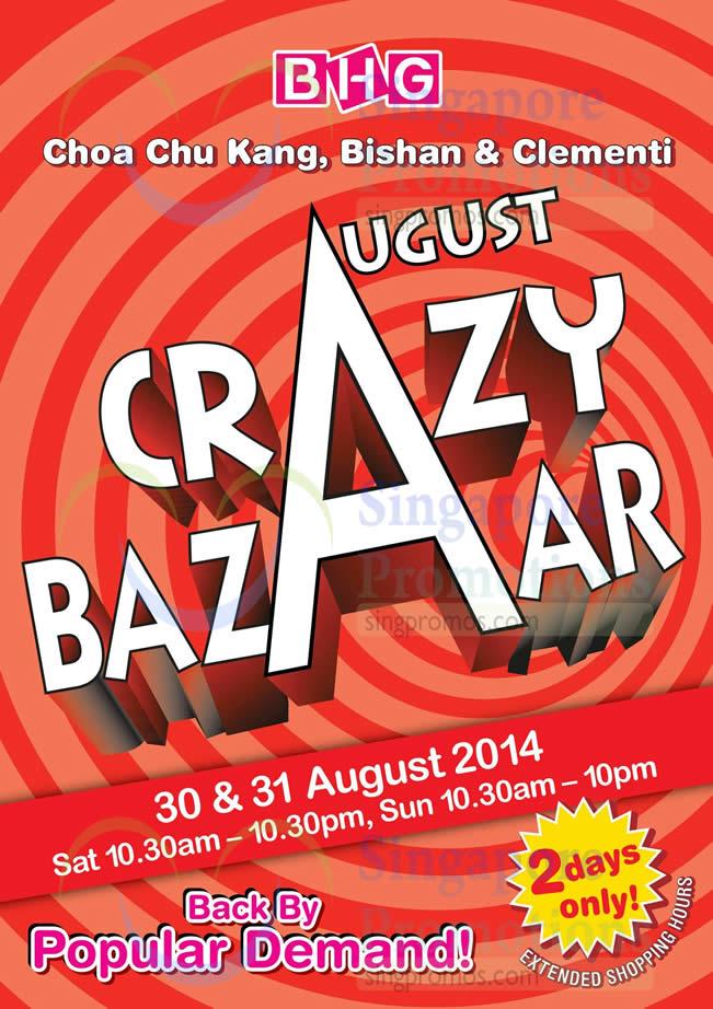 Crazy Bazaar Dates, Time, Locations