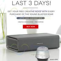 Read more about Creative Buy Sound Blaster Roar & Get Free Wolf Speaker 1 - 3 Aug 2014