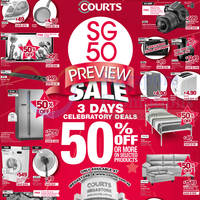 Read more about Courts SG 50 Preview Sale 9 - 11 Aug 2014