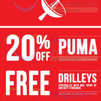 Read more about Dot 20% OFF Puma Items Promo 8 Aug 2014