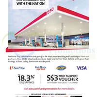 Esso Spend $60 & Get Free $3 Voucher For OCBC Cardmembers 4 Aug - 14 Sep 2014
