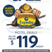 Read more about Expedia Japan Hotels From $119 Sale 5 - 9 Aug 2014