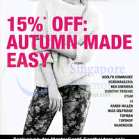 F3 Selected Brands 15% OFF Autumn Collection 28 Aug - 7 Sep 2014