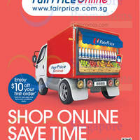 NTUC FairPrice Online $10 Off First Order 27 Aug 2014