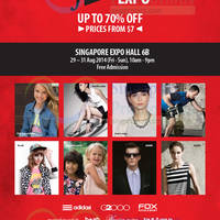Fashion Expo (Wing Tai) @ Singapore Expo 29 - 31 Aug 2014