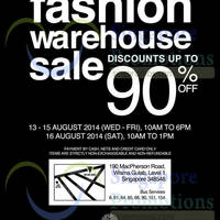 Read more about Branded Fashion Warehouse SALE 13 - 16 Aug 2014