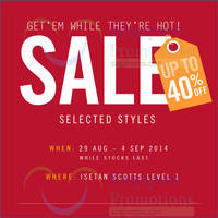 FitFlop SALE @ Isetan Scotts 29 Aug - 4 Sep 2014