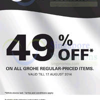 Read more about Grohe 49% OFF Storewide National Day Promotion 9 - 17 Aug 2014