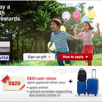 HSBC Visa Card Apply & Get FREE American Tourister 3pc Luggage Set 16 Sep - 15 Oct 2014