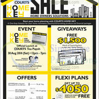 Courts Home Owners Sale 30 - 31 Aug 2014