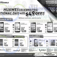 Read more about Huawei Smartphones & Tablets No Contract Offers 9 - 18 Aug 2014