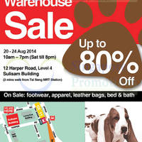 Hush Puppies Warehouse SALE Up To 80% Off @ Sulisam Building 20 - 24 Aug 2014