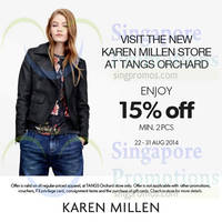 Read more about Karen Millen New Store Opening Promo @ Tangs Orchard 22 - 31 Aug 2014