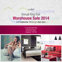 King Koil Annual Warehouse SALE 4 - 8 Sep 2014