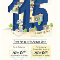 Read more about Kinokuniya Bookstores 20% OFF Storewide Promotion 7 - 11 Aug 2014