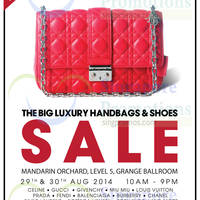 Brandsfever Handbags & Footwear Sale @ Mandarin Orchard 29 - 31 Aug 2014